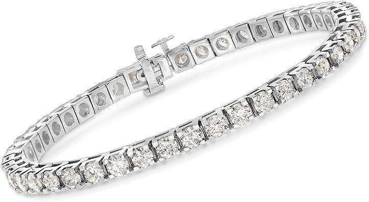 "Antique 6.00 ct Round Brilliant Diamond 14k White Gold Over 7.5/"" Tennis Bracelet"