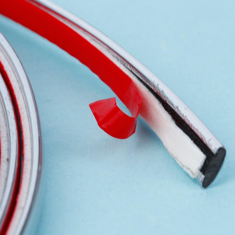 15/m x 6/mm Flexible selbstklebend Auto DIY Chrom Styling Dekoration Zierleisten Strip f/ür Auto Body Fenster Sto/ßf/änger
