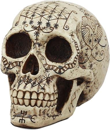 Cráneos /& Rosas Tela Gótico Negro Gris Esqueleto material de algodón de Halloween