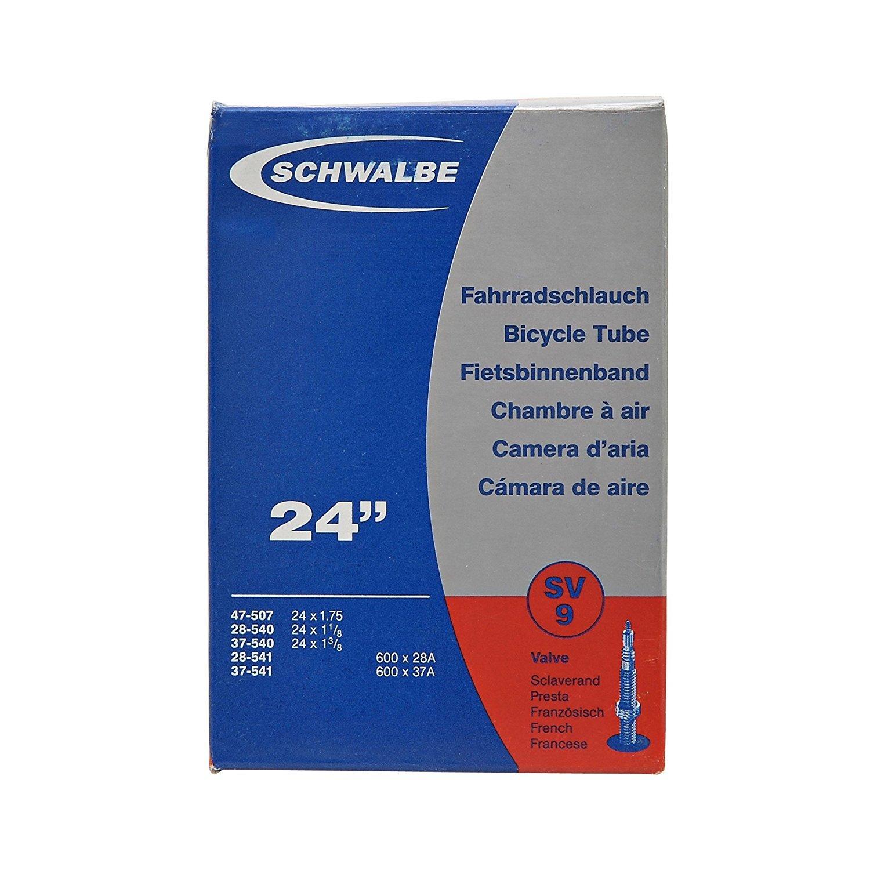 """24/"""" SCHWALBE SV10 SCHLAUCH SV VENTIL 40 MM 24 X 1.75/""""-2.35/"""" 47//62-507"""