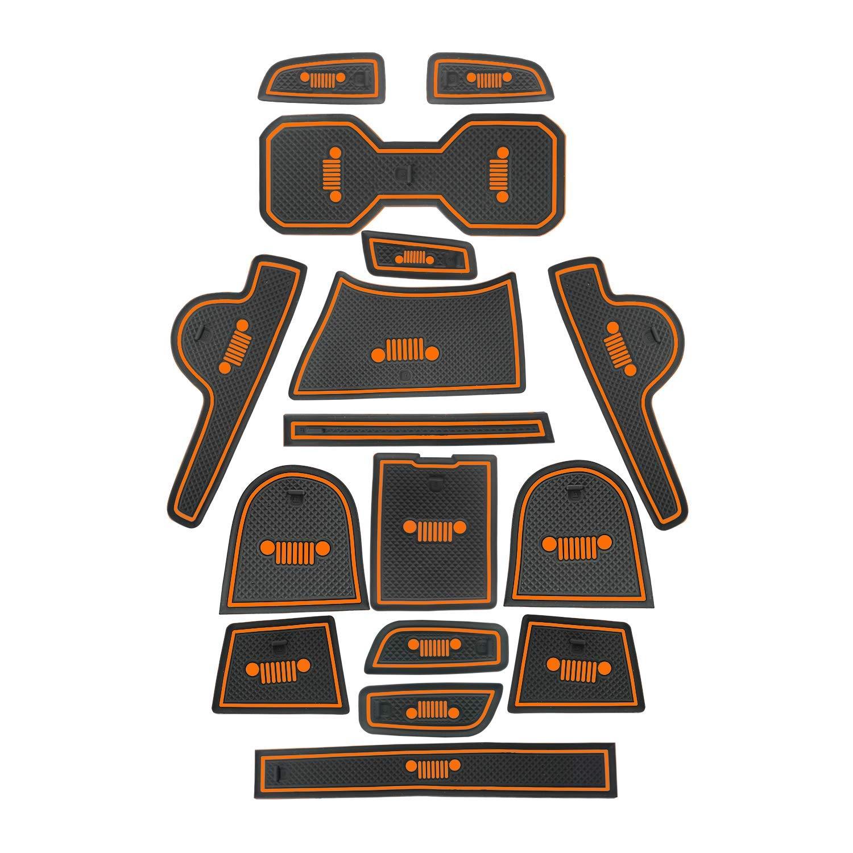 2018, Orange Toppower Mat Cup Holder Antirutsch-Halterung f/ür Innent/üren Mats f/ür Renegade 16 Pcs