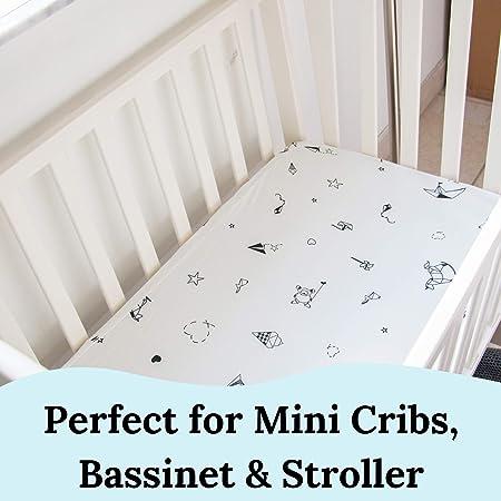 Gray Stroller Bassinet Sheet 100/% cotton