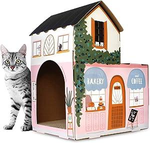 American Cat Club Cat House & Scratcher w/Catnip