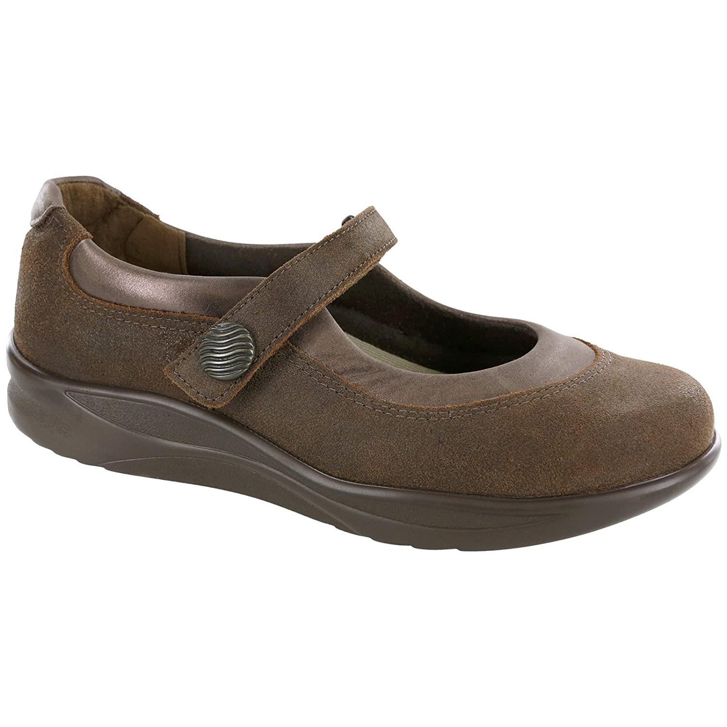 SAS Womens Step Out Leather Closed Toe Mary Jane Flats B01M7SUQOT 9.5 M (M) (B) US|Brown