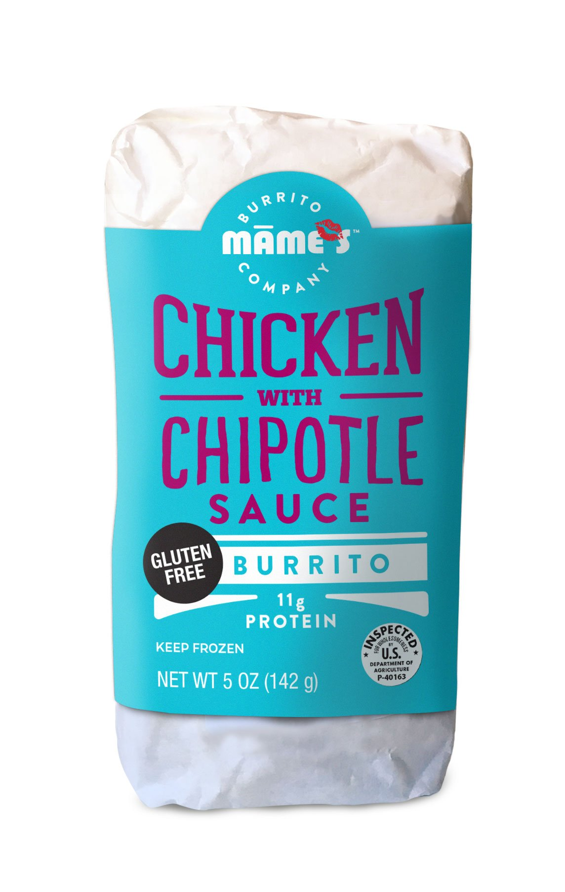 Mame's Burrito Company Gluten Free Chicken with Chipotle Sauce, 7 Ounce (Pack of 12)