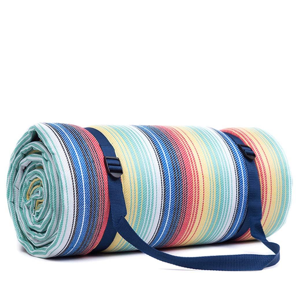 DONGLU Picknick-Matte im Freien beweglicher wasserdichter Feuchtigkeits-faltender Matte-Gitter-Boden-Mat (Farbe   1 )