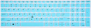 "LEZE - Keyboard Skin Cover for 15.6"" HP ZBook 15u G5, HP ZBook 15v G5, HP ZBOOK 15 G5, ZBook 15 G6, HP EliteBook 850 G5, EliteBook 755 G5 Laptop - Mint"