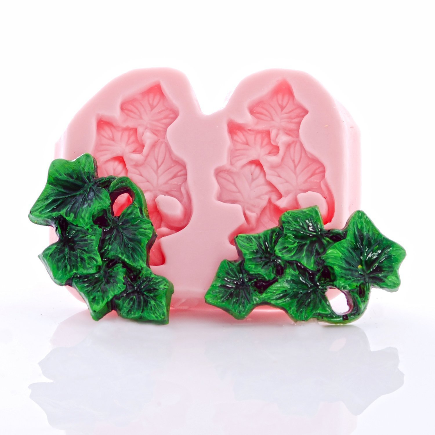 Ivy Leaf Cluster Silicone Mold Food Safe Fondant, Chocolate, Candy, Resin, Polymer Clay Mold