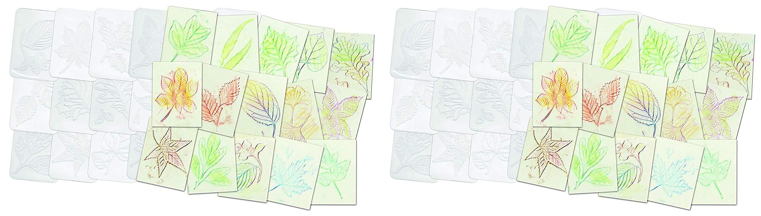 Roylco Leaf Rubbing Plates (Тwо Расk) by Roylco