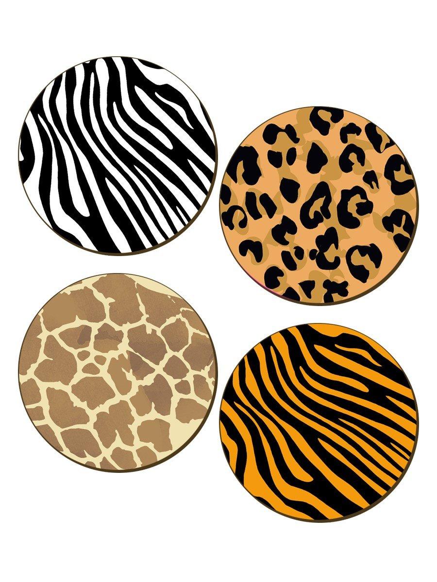 Animal Print - Set Of 4 Coaster 9.5x9.5cm