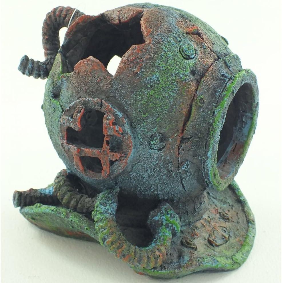 Aquarium Fish Tank Ornament Divers Helmet Great Detail