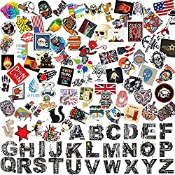 Grand Line 100 Pieces Removable Vinyl Graffiti Stickers for Laptops Skateboards Suitcases Cars Bumpers Bikes Bicycles