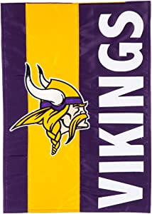 Team Sports America NFL Minnesota Vikings Embroidered Logo Applique Garden Flag, 12.5 x 18 inches Indoor Outdoor Double Sided Decor for Football Fans