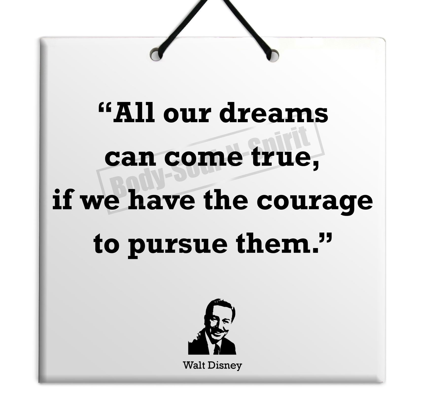 Amazon Com Walt Disney Quote Ceramic Wall Hanging 15x15