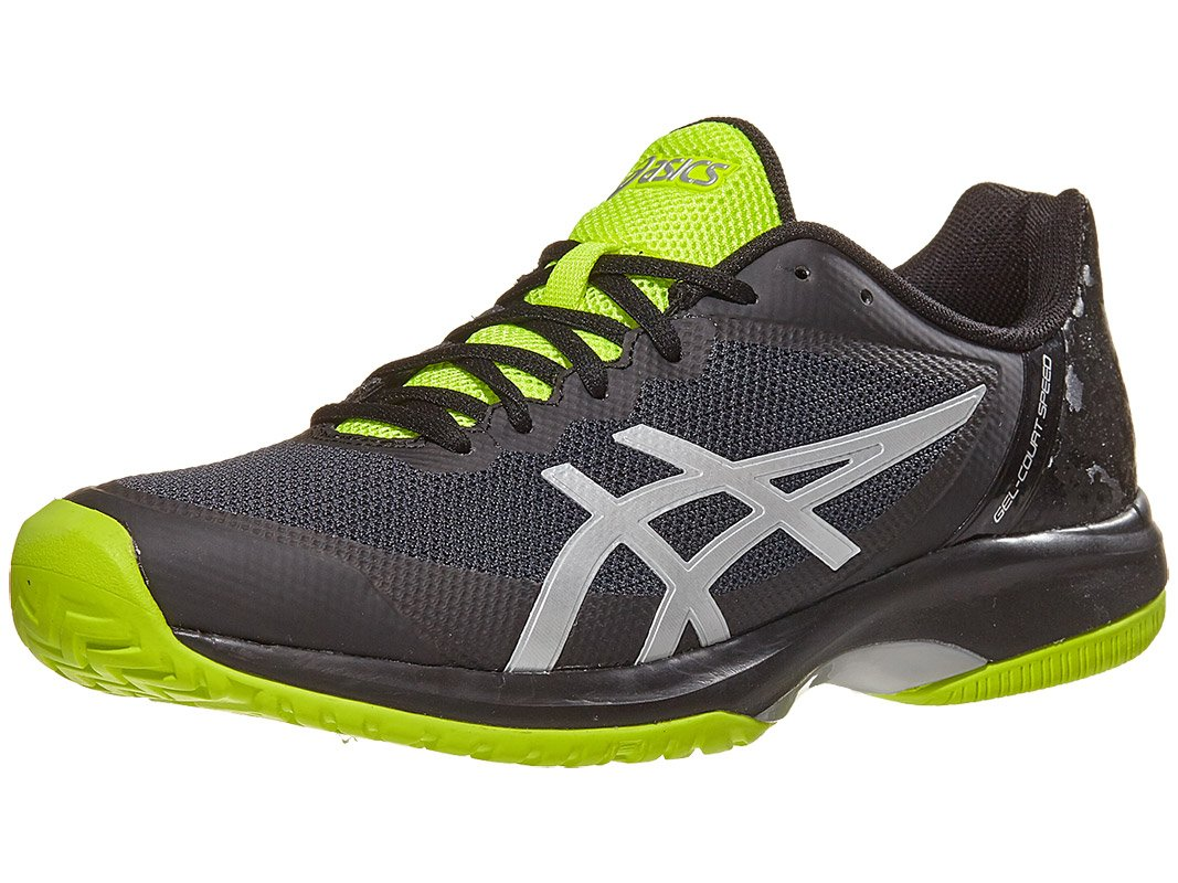 ASICS E800N Men's Gel-Court Speed Tennis Shoe, Black/Flash Yellow - 7.5 D(M) US