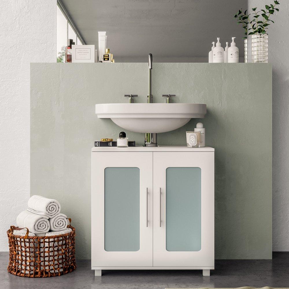Waschtischunterschrank RAYK Weiß matt - Badschrank ...