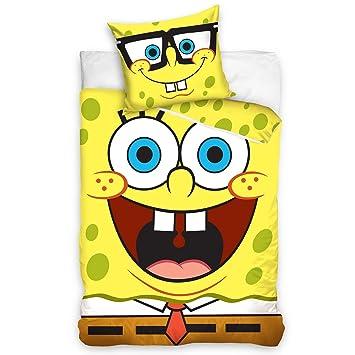 Amazon.com: Spongebob Squarepants UK Single Duvet Cover and ... : spongebob quilt cover - Adamdwight.com