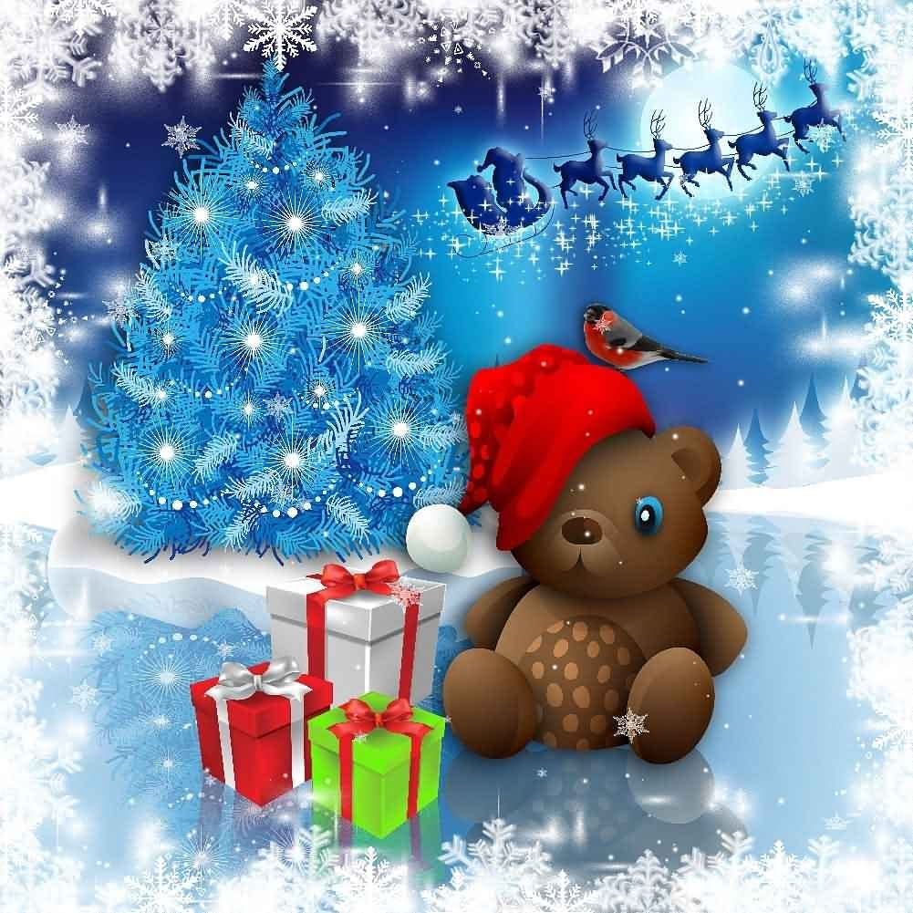 GladsBuy Cute Snowman 8 x 8 Computer Printed Photography Backdrop Christmas Theme Background YKY-100