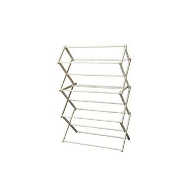 Peaceful Classics Amish Craftsman Foldable Wooden Clothes Drying Rack, Handmade Collapsible Racks for Hanging Laundry, Wash Cloths, or Towels (Large)