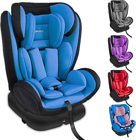 grupo 0//1//2//3 I Arn/és de 5 puntos y arn/és de 3 puntos I Funda desmontable y lavable I ECE R44//04 0-12 a/ños XOMAX XM-KI360 Silla de coche con 360/° funci/ón de rotaci/ón y ISOFIX I azul I 0-36 kg