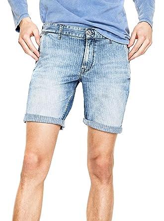 Pepe Jeans Short James Short Pinstripe 33 Bleu  Amazon.fr  Vêtements ... 523fe27d6141