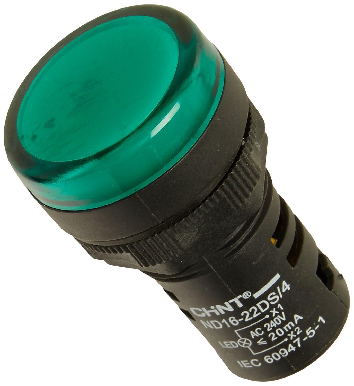 Chint ND16-G240 LED Indicator, 240V, Green Chint Europe (UK) Ltd