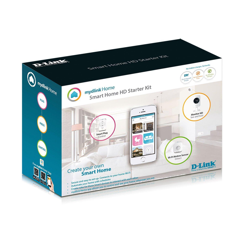 D-Link DCH-100KT - Kit Domótica WiFi, Enchufe Inteligente, Sensor de Movimiento y cámara de vigilancia, por App Gratuita mydlink Home para iOS y ...