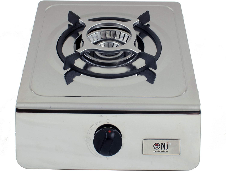 nj-100/Camping estufa de gas quemador de /única port/átil acero inoxidable port/átil GLP 4.0/kW