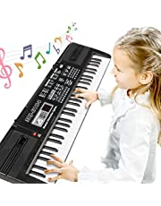 RenFox Children's Electronic Keyboard with 61 Keys, Microphone and Power Connector