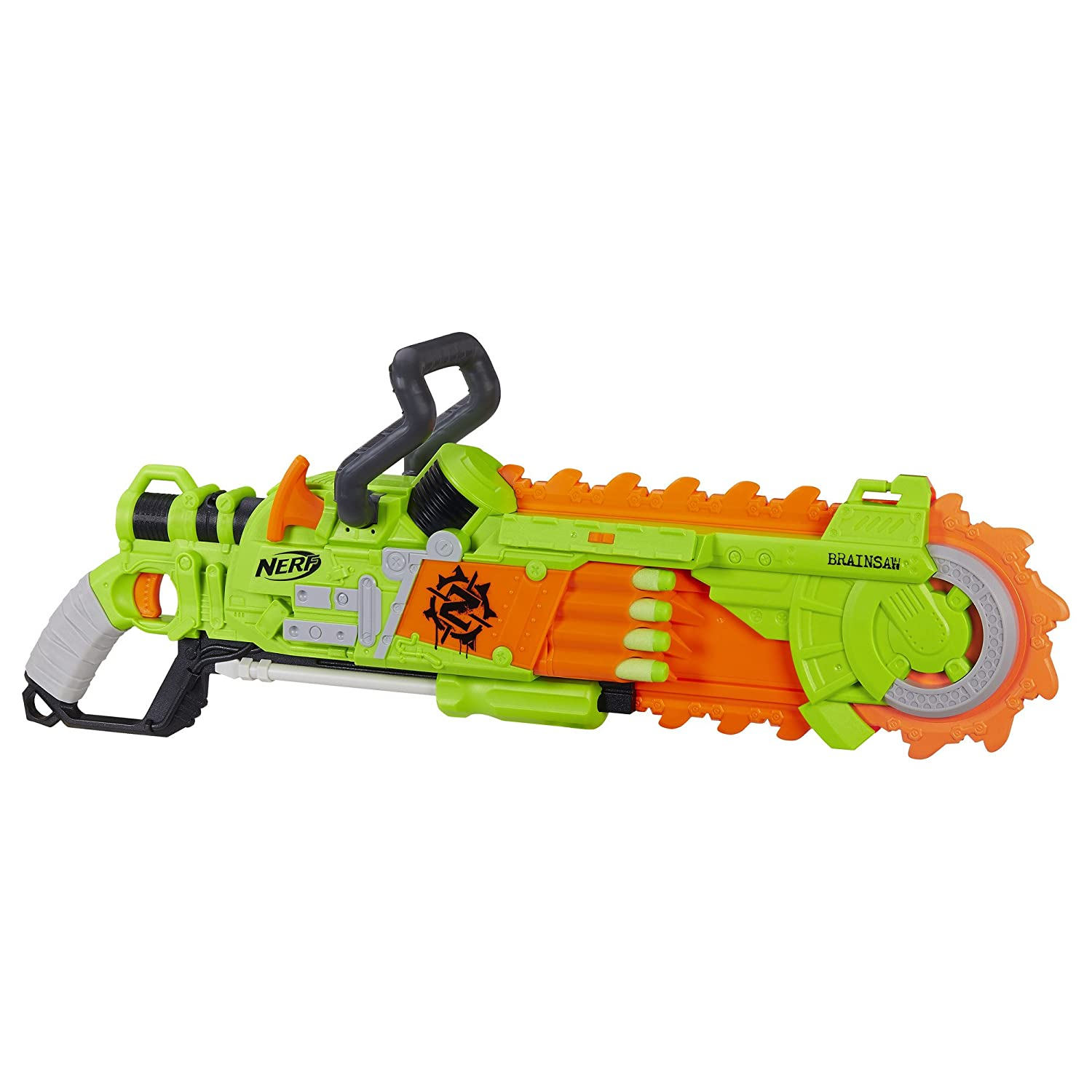 Amazon Nerf Zombie Strike Brainsaw Blaster Toys & Games