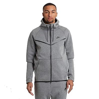 0e6c0f1161 Nike Mens Sportswear Tech Fleece Windrunner Hooded Sweatshirt Carbon  Heather Black 805144-091 Size X-Large  Amazon.in  Shoes   Handbags