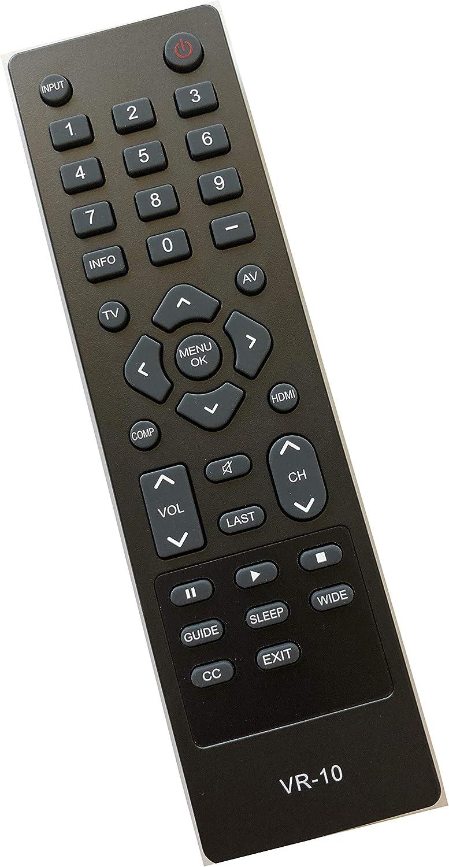 Smartby VR10 Remote Compatible with Vizio TV M260VA M320VA M220VA M190VA E190VA E220VA E260VA E261V E220MV E260MV E321VA E370VA E371VA E420VA E421VA