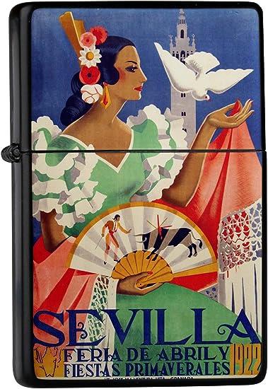 Encendedor De Gasolina Impreso Recargable España Sevilla Flamenco ...