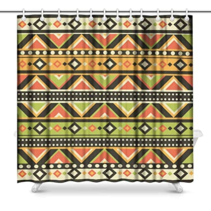 Image Unavailable Not Available For Color INTERESTPRINT African Art Tribal Print Shower Curtain