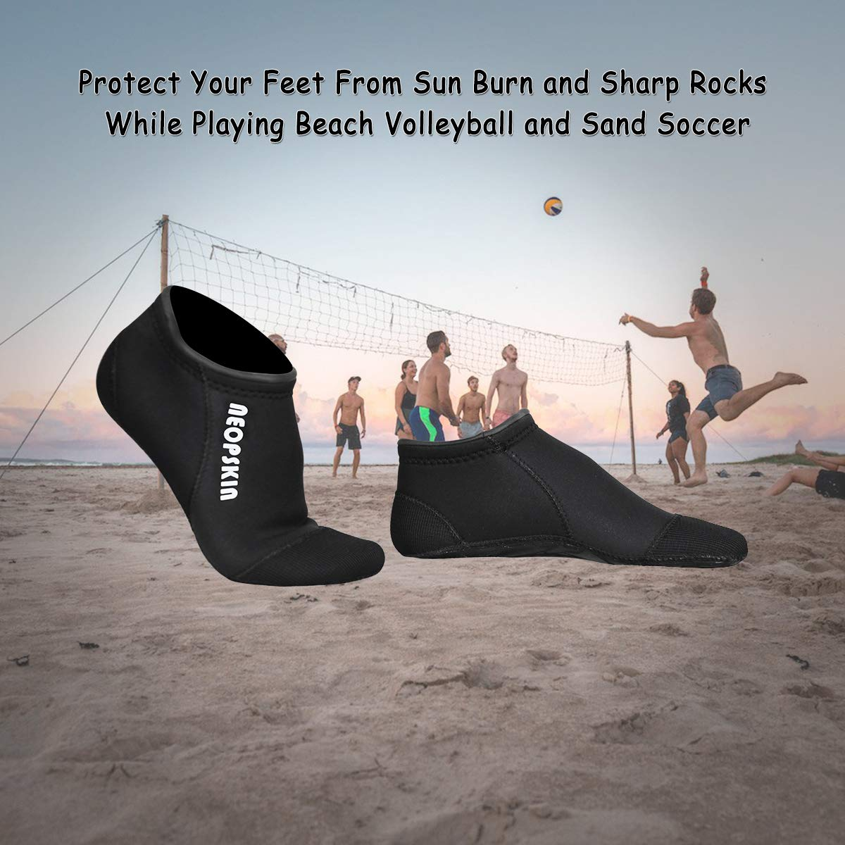 Diving Boots Sports Outdoors Neoprene Socks 3mm Beach Volleyball Sand Soccer Socks Water Booties Wet Shoes For Scuba Diving Swimming Surfing Snorkeling Fishing Wading Kayak