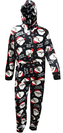 Santa Claws Holiday Hooded One Piece Pajama for men (X-Large)