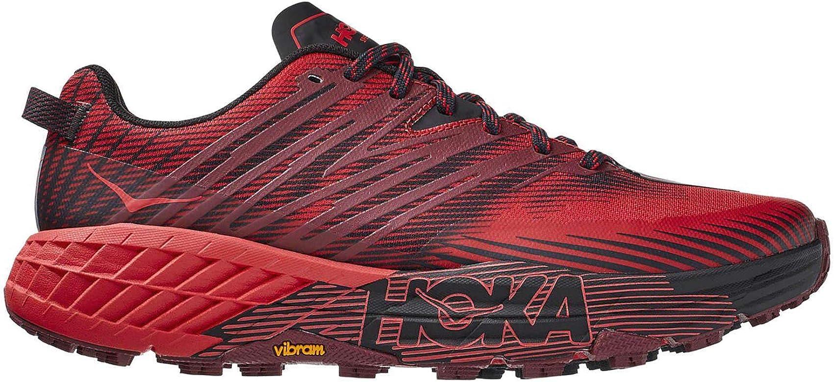 Hoka One One Hombre Speedgoat 4 Textile Synthetic Cordovan High Risk Red Entrenadores 40 2/3 EU: Amazon.es: Zapatos y complementos