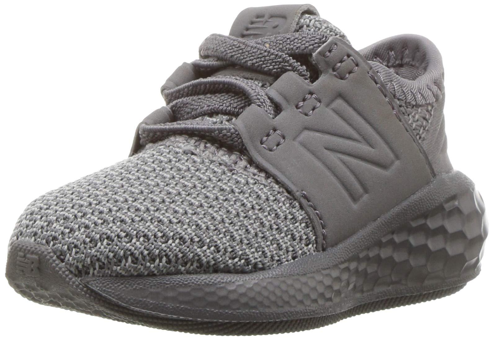 New Balance Boys' Cruz V2 Fresh Foam Running Shoe, Team Away Grey, 5.5 M US Toddler