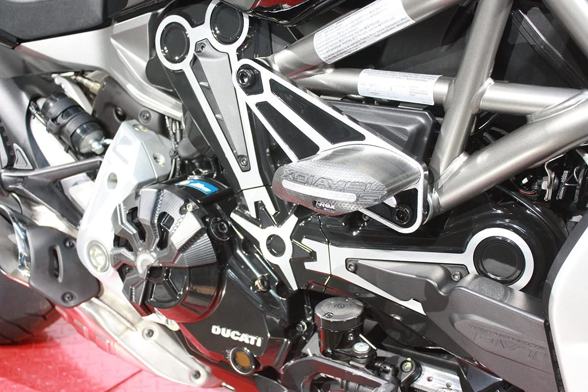 T-Rex Racing 2016-2019 Ducati Xdiavel//S No Cut Frame Sliders w//Contrast Cut Red