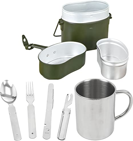 Blac ksnake/® Bundeswehr Vajilla Set Cuberter/ía BW aluminio Cocina