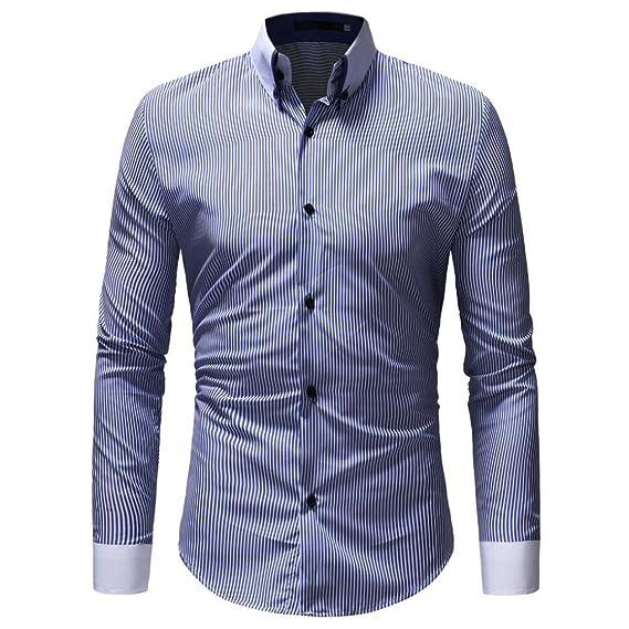 Camisa Oxford De Hombre,ZARLLE Camisa Casual/Formal para Hombre, Blusa Superior De