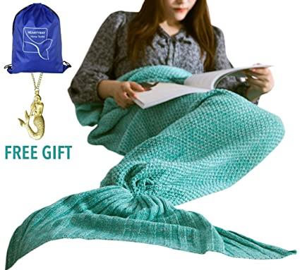 Amazon.com  heartybay Crochet Mermaid Tail Blanket for Adult 50cd26071