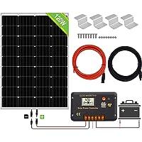 ECO-WORTHY 200 Watt 12V / 24V Off Grid Paneles solares Kits 2pcs 100W Panel solar policristalino + 20A Regulador de…