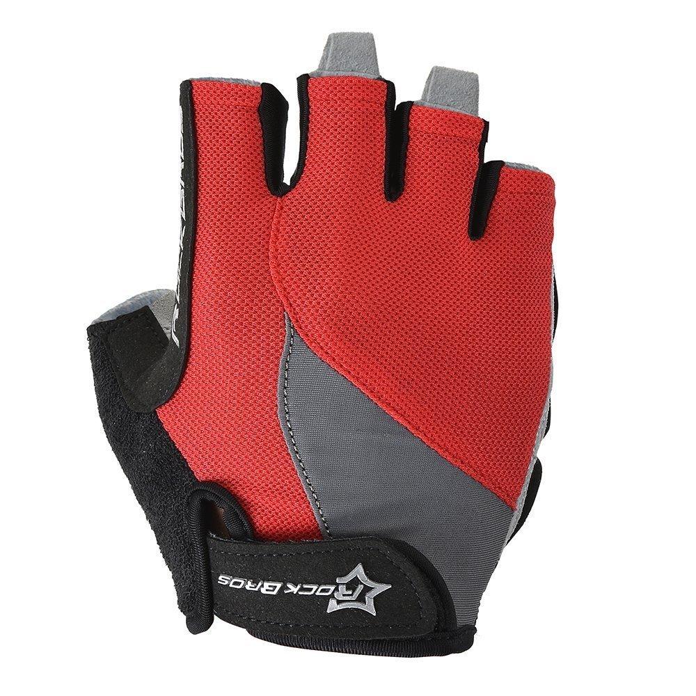 Hysenm Summer Breathable Shockproof Gel Pad Anti-Slip Cycling MTB BMX Cycling Fingerless Gloves Rockbros