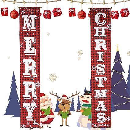 Christmas photo prop Christmas decor Red and Black Christmas Christmas party decoration Christmas Banner Merry Christmas Banner