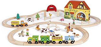 Janod Mini Toy Box Set historia bombero de madera del niño//niño Figuras Nuevo Y En Caja