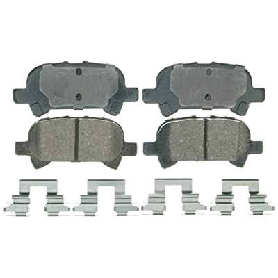 Wagner QuickStop ZD828 Ceramic Disc Pad Set Includes Pad Installation Hardware, Rear: Automotive