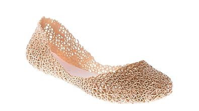 9b9f2014ac49 CALICO KIKI ASYA-CK01 Women s Metallic Glitter Fashion Slip On Jelly Shoe  Ballerina Flats (