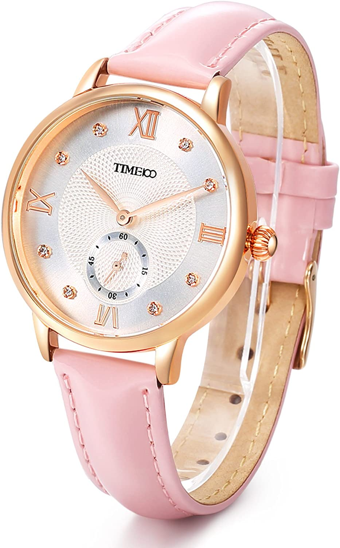 Time100 Reloj de Diamantes Pulsera Cuarzo Mujer Reloj