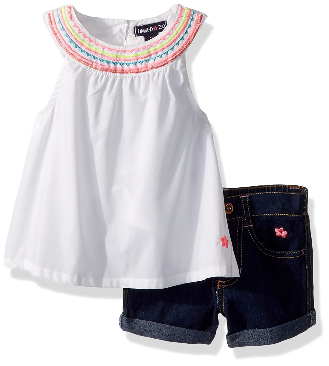 Limited Too Girls 2 Piece Sleeveless Top and Bermuda Short 2785_1